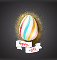 painted egg for celebration of happy easter vector image vector image