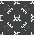People in front of screen pattern vector image vector image