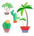 potted plant in a flat style on a white background vector image vector image