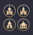 religion buildings icons set vector image vector image