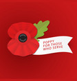 remembrance poppy - poppy appeal modern paper vector image