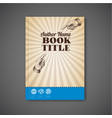 retro vintage brochure book flyer template vector image