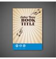 retro vintage brochure book flyer template vector image vector image