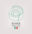 schematic drawing coliseum and italian flag vector image
