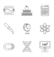 Scientific research icons set outline style vector image vector image