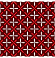 seamless abstract grid art dark white red pattern vector image vector image