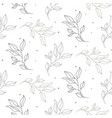 seamless leaves spring pattern line style light vector image vector image
