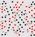 seamless pattern with playing cards in chaos card vector image vector image