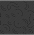 seamless weave geometric pattern - dark vector image