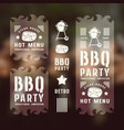 set barbecue labels and flyers vector image vector image
