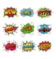 set comic speech bubble vector image vector image