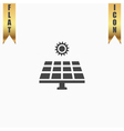 Solar energy panel vector image vector image