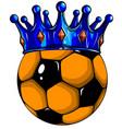 sport football ball soccer art vector image vector image