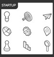 startup outline isometric icons vector image vector image