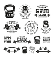 Stock of gym club emblem vector image vector image
