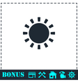 Sun icon flat vector image vector image