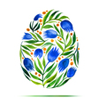 Template for Easter greeting card or invitation vector image vector image
