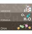 Three science banners Infographics vector image