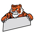 tiger grip the banner vector image vector image