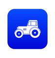 tractor icon digital blue vector image