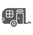 trailer glyph icon car and travel vehicle sign vector image vector image