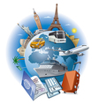travel business vector image vector image