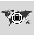 traveling world suitcase design graphic vector image vector image