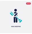 two color man sweeping icon from behavior concept vector image vector image