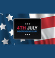 united states flag american independence day vector image vector image