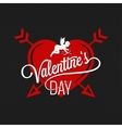 Valentines Day Heart And Arrows Background vector image