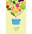 Vegetarian menu Cook vegetables in the pan vector image
