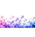 white background with purple spectrum arrows vector image