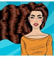 Young Woman with Health Long Hair Pop Art vector image vector image