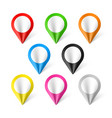 set of map pointers vector image
