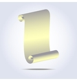 Vintage paper scroll icon vector image