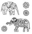 Abstract Elephant Icon Set vector image