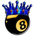 billiard snooker - pool ball eight - 8 ball vector image