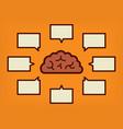 brain concept vector image vector image