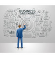 businessman drawing business idea target market vector image vector image