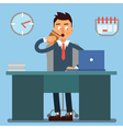 Businessman Working Day Businessman at Work vector image