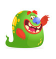 cartoon green monster vector image vector image
