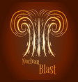 cartoon nuclear blast vector image vector image