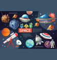 cartoon space elements collection vector image vector image