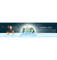Christmas banner 2017 panoramma Jolly Santa on vector image vector image