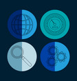 collection of database round icons vector image