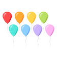 colorful balloons collection flat style vector image vector image