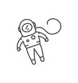 cosmonaut line icon concept cosmonaut vector image vector image