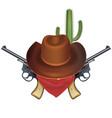 cowboy bandit concept vector image