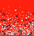 cute little hearts background different size and vector image vector image