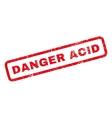 Danger Acid Rubber Stamp vector image vector image